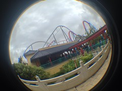 China/Shambhala with a Fish Eye (CoasterMadMatt) Tags: park parque espaa fish eye primavera port de lens photography amusement spring spain foto distorted photos may fisheye roller mayo rollercoaster montaa coaster themepark shambhala aventura espaol dragonkhan fisheyelens atracciones iphone fotografa fotografas portaventura rusa montaarusa parquetemtico 2013 coastermadmatt uploaded:by=flickrmobile flickriosapp:filter=nofilter