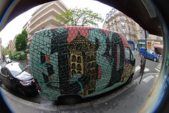 by Elobo (lepublicnme) Tags: streetart paris france graffiti may fisheye peleng truch 2013 elobo