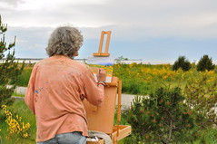 Capturing spring wild flowers (Derek WM Law) Tags: nature painting landscapes artist arts painter nikondigital richmondbc vancouverbritishcolumbia nikond90 nikoncapturenxusersgroup nikoncapturenx2 niksoftwarephotoshare nikkorafsdx1855mmf3556vr
