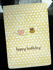 Bee Bee birthday card (QQSmap) Tags: birthday handmade card flickrandroidapp:filter=none