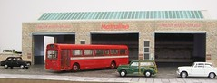 Harrow Weald diorama (kingsway john) Tags: kingsway models harrow weald bus garage 176 scale model efe mb rt hd diorama londontransportmodel oo gauge miniature