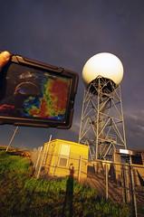 KUEX: Dual Polarization NEXRAD Radar station, Blue Hill, Nebraska (~Pixelsmithy) Tags: blue ex weather nebraska pentax hill sigma ii hastings dual 1020mm velocity base radar chasing k5 chaser stormchasing nws polarization ipad stormchaser nexrad f456 radarscope kuex k5ii