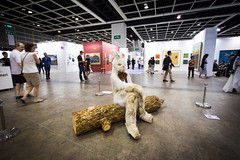 Installation by Marnie Weber: Log Lady & Dirty Bunny, 2009 (Mixed Media) / Simon Lee Gallery / Art Basel Hong Kong 2013 / SML.20130523.6D.14087 (See-ming Lee  SML) Tags: china uk urban sculpture hk bunny london art cn photography hongkong la us losangeles crazy lol mixedmedia events ships fineart navy photojournalism fantasy installation creativecommons  wtf   hkg journalism  6d artbasel  canon1740f4l   fav10 2013  ccby seeminglee canonef1740f4lusm usspeleliu marnieweber canon6d smlprojects crazyisgood  smlfineart smluniverse canoneos6d smlphotography smlevents flickrstats:views=10000 flickrstats:galleries=1 simonleegallery abhk sml:projects=crazyisgood fl2fbp sml:projects=photojournalism sml:projects=smlfineart artbaselhongkong2013