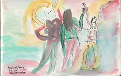 P7 (LadyCountryegg) Tags: watercolor austria sketch sterreich dancing dibujo foire streetfair autriche bailando tanzen aquarel croquis aquarell ballare villach schizzo aquarello strasenfest musicalfever postgassenfest