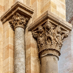 capital (mym) Tags: italy sculpture stone capital carving sicily column duomo romanesque cefal