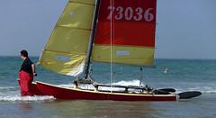Cte d'Opale, catamaran (Ytierny) Tags: france sport horizontal catamaran vague voile navigation voilier merdunord panoramique pasdecalais littoral loisir et ctedopale hobbiecat ytierny
