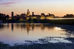 Mantova la sera - Mantua by night (KenHensley) Tags: enchanting blue water lake longexposure mantova mantua italy