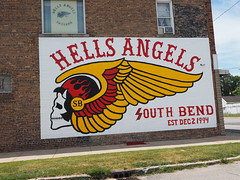 Hells Angels (Lake Effect) Tags: hellsangels indiana southbend mural 235365 project365