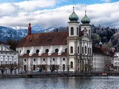 Lucerne  CH (Steffi-Helene) Tags: mountains architecture schweiz switzerland ancient europe suisse outdoor churches kirchen eglise