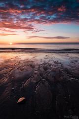 The Patterns of Sunrise (David Raynham) Tags: nature ngc fullframe fx sigma24mmf14art d750 nikon 2016 summer landscape portrait colour sunrise sea water sand england uk eastcoast lincolnshire chapelpoint seascape