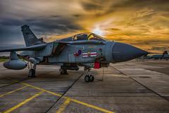 Tornado GR4 sunset (Lee532) Tags: panavia tornado tonka gr4 raf royalairforce coningsby 41sqn 41rtes jet fighter fast aeroplane plane aircraft military aviation sunset sun set sky clouds nikon d610 nikkor 2470mm