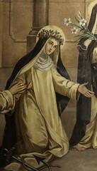 Mural of St Rose (Lawrence OP) Tags: dominican nuns monastery buffalo ny mural strose roseoflima tertiary saint