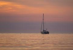 Margita (dilys_thompson) Tags: yacht boat sea sunset northwales calm seascape ocean lone loneyacht fuji fujixt1 fujifilm fujifilmxt1 evening dusk