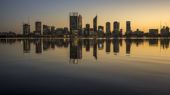 Early to Rise (SteveKPhotography) Tags: sony stevekphotography slta99 alpha a99 tamron 2470mm city cityscape river water skyline reflection dawn daybreak morning building urban lights nature scenery scenic landscape wideangle outdoors swanriver cityofperth southperth westernaustralia australia