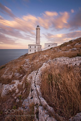 Lighthouse (l3v1k) Tags: ifttt 500px sky landscape sunrise lake city sea beauty sunset water boat beach travel blue night sun light clouds italy lighthouse ocean architecture summer beautiful landscapes puglia italia faro canon 5d mark 2 punta palascia giovanni chiossi