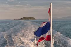 Thailand Flag (Hattifnattar) Tags: thailand flag kohphangan ferry pentax fa43mm limited