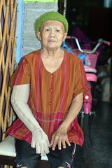 a lady under medical care (the foreign photographer - ) Tags: aug72016nikon middle aged woman great knit hat khlong bang bua portraits bangkhen bangkok thailand nikon d3200