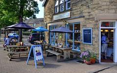 Cafe on the Square, Eyam, Derbyshire (Explored) (Baz Richardson) Tags: derbyshire eyam cafes shops streetscenes tearooms peakdistrict explored