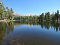 Lassen Peak Reflection Lake (Explored) (claypeoples) Tags: lake reflection lassen peak mountain volcano landscape scenery western california explored