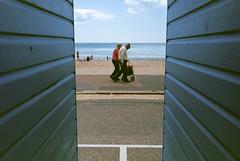 Beach hut frame (Christopher Burdon) Tags: bournemouth beach huts leica superia iso400 summicron