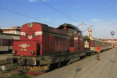 Varna - shunting locomotive 55.196 (lyura183) Tags: bulgaria railway train bdz bd station      varna