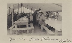 September 1916 Postcard - Mess Tent at Camp Petawawa, Ontario (Baseball Autographs Football Coins) Tags: petawawa petawawamilitarycamp camppetawawa militarycamp camp petawawacamp training militia militiacamp artillerycamp artillery wwi worldwar war firstworldwar ontario tent horse mess postcard photo