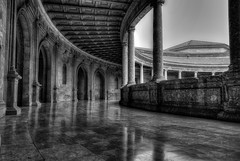 The Inner Circle (Frags of Life) Tags: absence architecture buildingexterior colourimage column day famousplace gothic granadaspain history horizontal indoors nopeople palace palaceofcharlesv photography renaissance spain spanishculture thepast tranquility traveldestinations monotone bw blackwhite