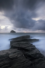 Dusk Light (Kathy ~ FineArt-Landscapes) Tags: trebarwithstrand coastal cornwall cloud longexposure rock sea ocean light dusk britain water storm tide