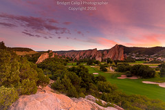 Sunset at Roxborough State Park (Bridget Calip - Alluring Images) Tags: 2016 alluring images colorado arrowhead bridget calip denver basin douglas county dramatic sky front range green grass red rocks rocky mountains roxborough state park sunset all rights reserved copyrighted fountain formation golf course scrub oak