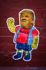 DSCF8438 (john fullard) Tags: 2016 city fujixpro1 graffiti nelson newyork nyc sacsix september streetart trump urban