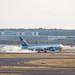 Aussichtsplattform Frankfurt Airport: Uzbekistan Cargo Boing 767-33P(ER)(BCF) UK-67001 Touchdown