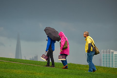 Primrose Hill (DaveWilliams) Tags: london rain umbrella city sky londonist shard chocolate