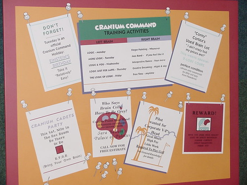 "Cranium Command Bulletin Board • <a style=""font-size:0.8em;"" href=""http://www.flickr.com/photos/28558260@N04/29550310353/"" target=""_blank"">View on Flickr</a>"