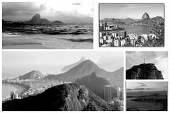 Mosaico da cidade . (o.dirce) Tags: mosaico colagem riodejaneiro cidademaravilhosa odirce relevo montanhas paisagem