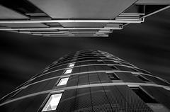 Hamburg Fine Art (Mabloo) Tags: hamburg blackwhite monochrome architektur architecture hafencity clouds symmetrie linien fenster