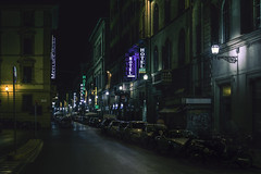 Hotel (Photo-LB) Tags: florence nuit night streetphoto lumire florencebynight italie italia europe venise rome nikon d800 nikon58afs hotel restaurant albergo notte luce ambiente neon enseigne segno