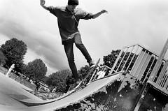 Ramp (Robert Bosson) Tags: skatepark romford essex skateboard kodaktrix trixblackandwhitefilm canonp canonrangefinder industar61 industar61ld