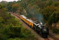 844 at Calhoun Bluffs (Jeff Carlson_82) Tags: up uprr steam unionpacific calhounbluffs topeka ks kansas excursion special 844 fallcolor train railfan railroad railway