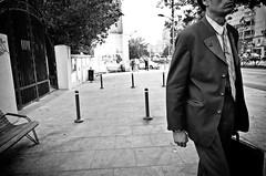 This Nameless Faceless Job (stimpsonjake) Tags: nikoncoolpixa 185mm streetphotography bucharest romania city candid blackandwhite bw monochrome job man suit briefcase office whitecollar work anonymous nameless faceless