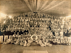 Cadets and crew of the HMAS TINGIRA including Joseph Roy McCarthy (Australian National Maritime Museum on The Commons) Tags: boys crew group navy people recruitment recruits sailors trainees training hmastingira bwphotograph nsssobraon sydneyharbour rosebay berrysbay