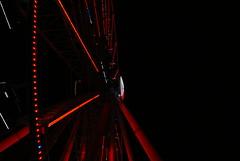 Under The Wheel (trekkie313) Tags: ferriswheel ride dark attraction architecture lights night beam red tennessee theisland blackbackground pigeonforge