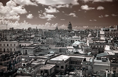 Old Havana Infrared (Steve Bahcall) Tags: cuba travel infrared ir convertedinfrared blackwhite city havana capitol bw tokina1116 architecture