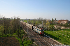 E655.210 TI/Cargo (Massimo Minervini) Tags: e655 e655old e655originale e655210 caimano fs cargo trenitalia carritelonati chiassobologna mi pontenure piacenza canon400d treno trenomerci train rail railroads locomotore scenery