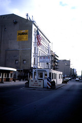 Berlin20-CheckpointCharlie-Sep85 (ArgyleMJH) Tags: berlin 1985 checkpointcharlie gdr ddr alliedpowers solidarity berlinwall germany coldwar