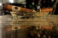 The Ash Tray (ricko) Tags: ashtray glass cigars ashes reflection night raphealhotel kansascity smoked