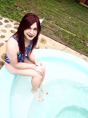 2016.09-12 (SamyOliver) Tags: samycd samyoliver samy samanthaoliver samantha transvestite transformista tranny crossdresser crossdress genderfluid brazilian boytogirl bodysuit redhead pooltime oliver shemale