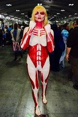 DSC_0545 (Randsom) Tags: nycc 2016 newyorkcomiccon nycomiccon javitscenter october nyc newyorkcity cosplay costume fun comicbooks comicconvention heroine superheroine facepaint whiteface wig female