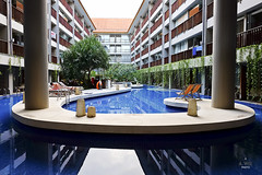 Lagoon pool view from the Eatery (A. Wee) Tags: fourpoints spg kuta bali indonesia resort hotel swimming pool