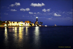 Throwback Thursday. (Papa Razzi1) Tags: 8143 2013 tbt hillsboro lighthouse browardcounty sky blue sea december night