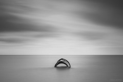 The Shell (laura.hacking) Tags: explored flickrexplore waterscape water coast shell marysshell cleveleys seascape sea ocean calm tranquil bw blackandwhite monochrome moody appicoftheweek minimalism